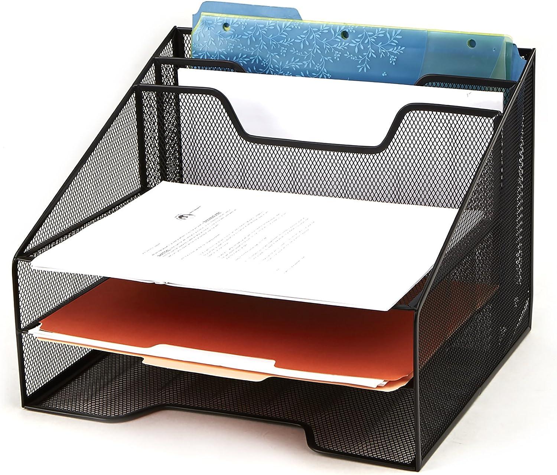 Mind Reader Mesh Organizer Storage, 5 Compartment, Black: Kitchen & Dining