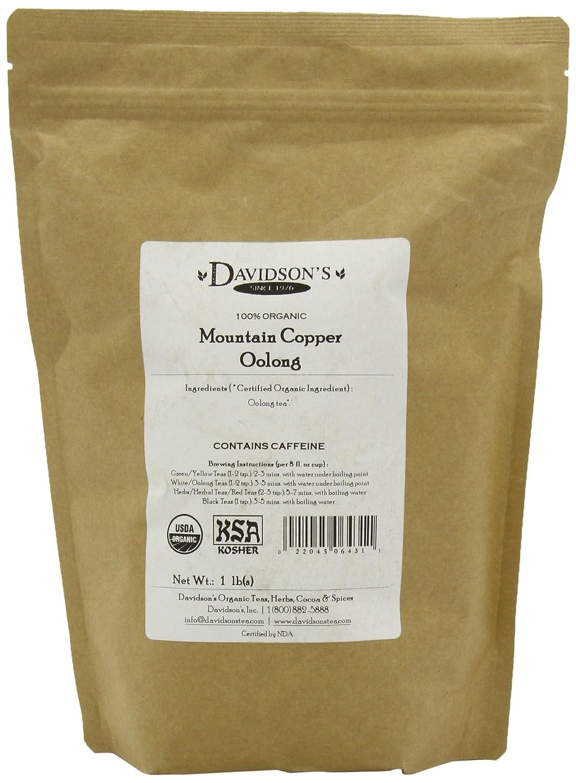 Bulk organic tea - Amazon Com Davidson S Tea Bulk Organic Mountain Copper Oolong 16 Ounce Bag Oolong Tea Loose Leaf Grocery Gourmet Food