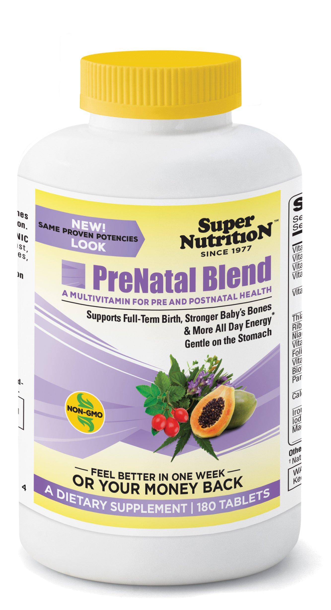 SuperNutrition Prenatal Multivitamin, gluten free, 180 Count - Best Value