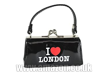 c2173a29fa Image Unavailable. Image not available for. Colour: Elgate I Love London  Handbags Leather Look Black