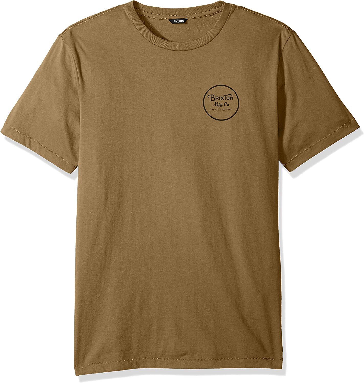 Brixton Wheeler II - Camiseta de manga corta para hombre: Amazon.es: Ropa y accesorios