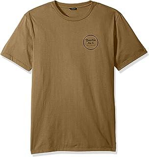 02ae49a34c9dda Amazon.com: Brixton Men's JOLT Short sleeve Premium T-shirt,Heather ...
