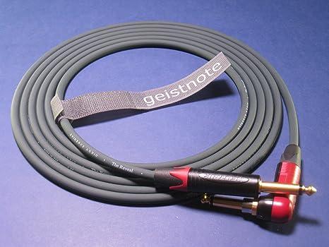 Geistnote - Cable de audio para instrumentos con enchufe silencioso Neutrik y conectores dorados, 2