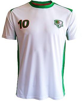 A chacun son Pays Algeria - Camiseta de fútbol para adulto blanco blanco Talla:XXL