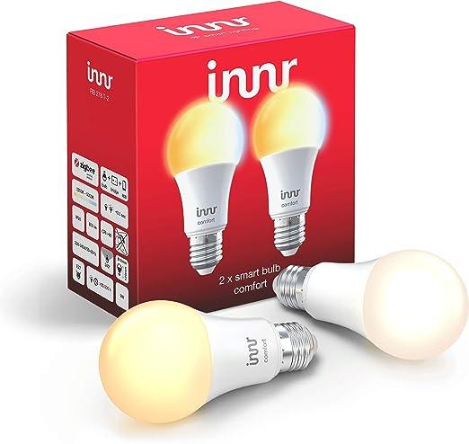 Innr Bombilla LED conectada, E27, ajustable en blanco 2200K ...
