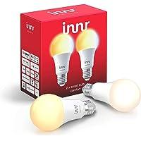 Innr E27 Smart LED-lamp, 2200K - 5000K, werkt met Philips Hue* & Alexa (bridge vereist) instelbaar wit licht, 2-Pack, RB…