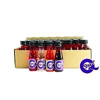 Qshots - 40 x 2cl 10% ABV Miniatures, Fruit Salad, Strawberry Daiquiri, Cherry Cola, Pina Colada