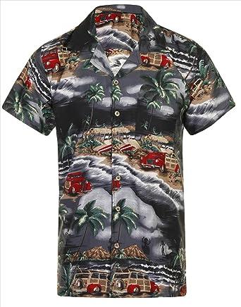 d5306ef4 Hawaiian Shirt Mens Loud Aloha Hawaii Holiday Beach Stag Summer Party  Caribbean Short Sleeve S M L XL