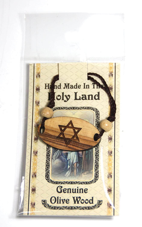 Star of David Olive Wood Bracelet Bethlehem Casting 512307