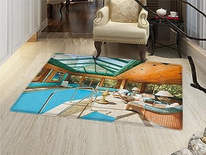 Amazon.com: Moderno Felpudo alfombra pequeña estudio de ...