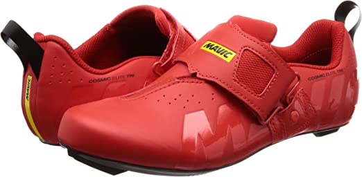 MAVIC Cosmic Elite Tri Triathlon 2019 - Zapatillas para bicicleta de carreras, color rojo, talla: 38,5: Amazon.es: Zapatos y complementos