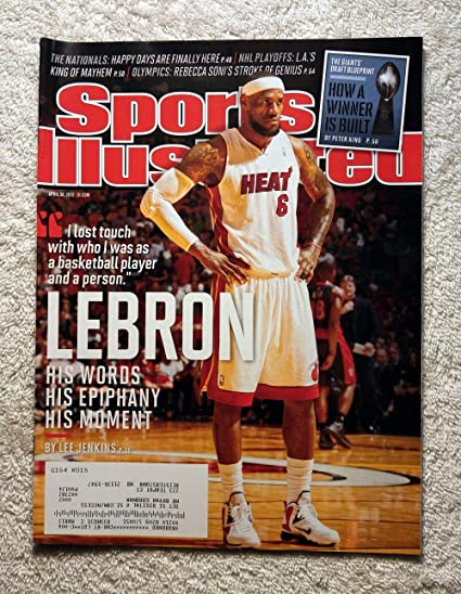 Lebron James Miami Heat His Words His Epiphany His Moment Sports Illustrated April 30 2012 Si At Amazon S Sports Collectibles Store