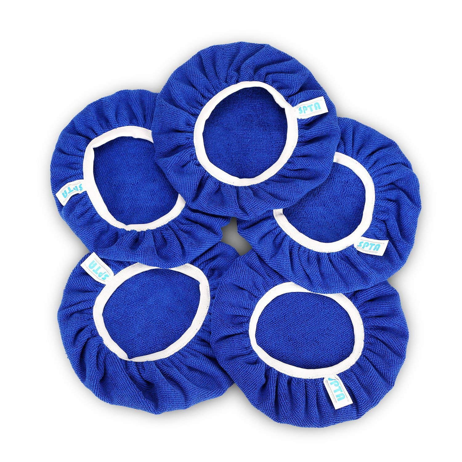 SPTA 9 Inch & 10 Inch Car Polisher Pad Bonnet Soft Microfiber Polishing Bonnet Buffing Pad Cover For 9'' And 10'' Car Polisher Pack of 5Pcs
