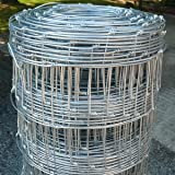 Wire Stock Fence 0.8m x 50m Livestock Fencing C8/80/30 Animal Farm Protective Border Fence