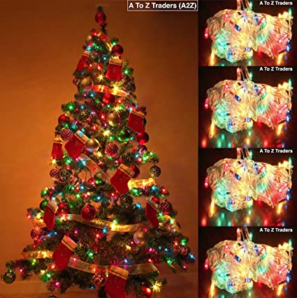 6feet christmas tree 4 multi colour string lights christmas tree hang decorations ornaments xmas - How To String Lights On A Christmas Tree