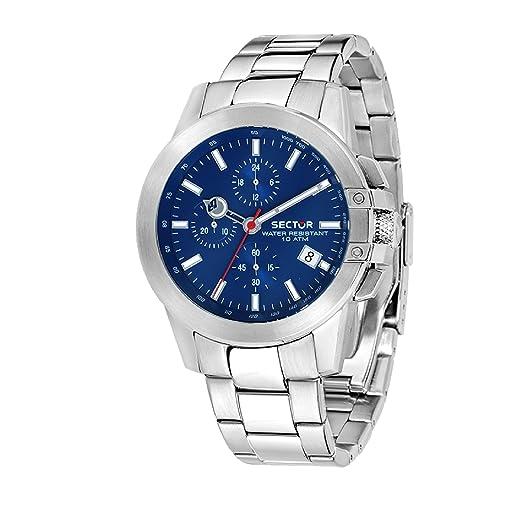 SECTOR Reloj Cronógrafo para Hombre de Cuarzo con Correa en Acero Inoxidable R3273797004: Amazon.es: Relojes
