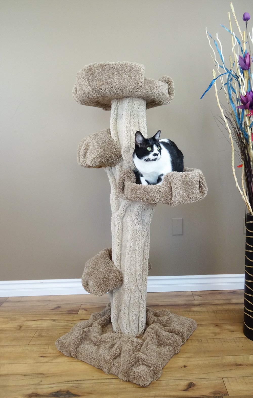 New Cat Condos Premier Cat Play Tree, Brown, Large