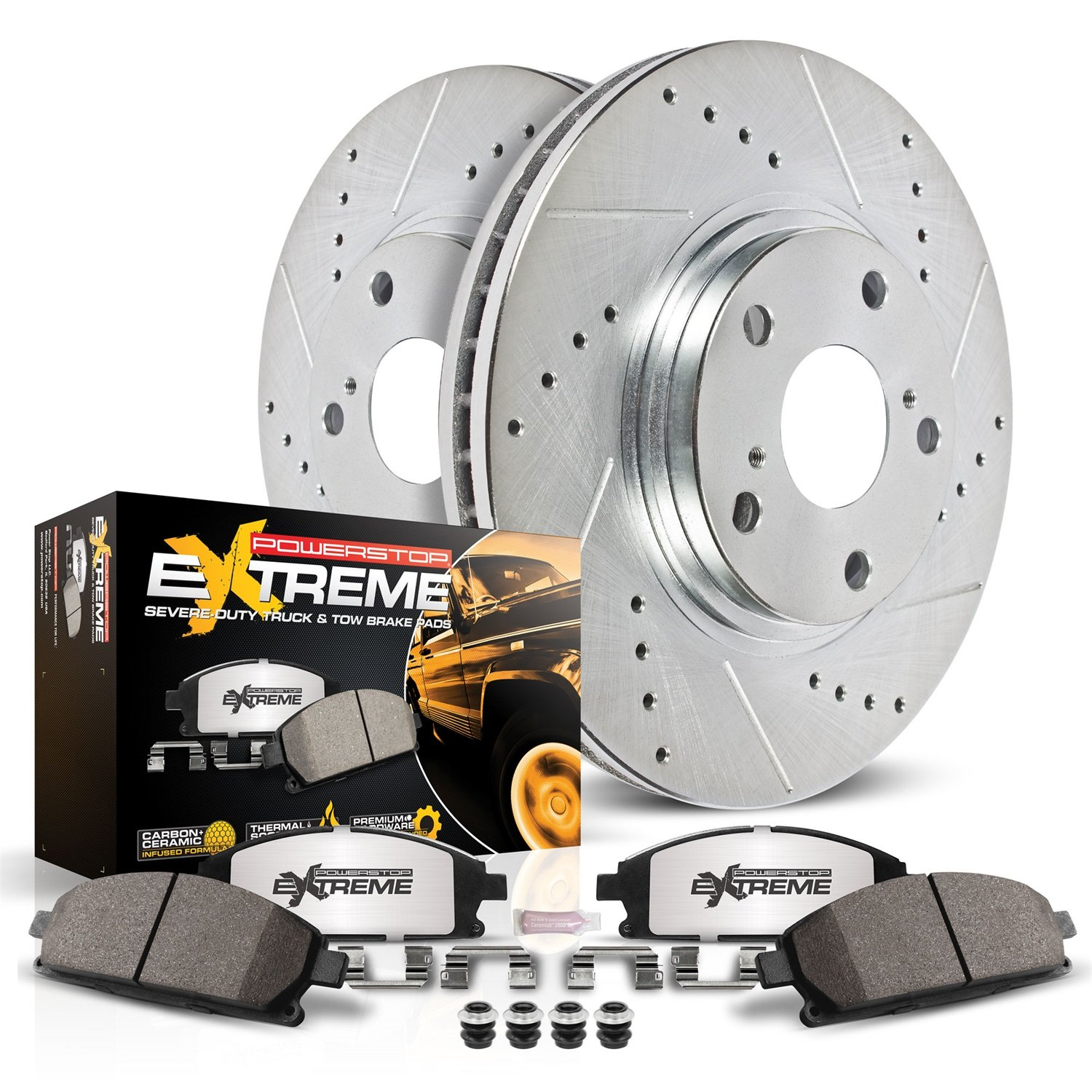 Power Stop K6271-36 Rear Z36 Truck and Tow Brake Kit by Power Stop