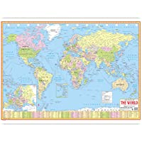 WORLD POLITICAL MAP ENGLISH LANGUAGE(70 X 100 CMS)