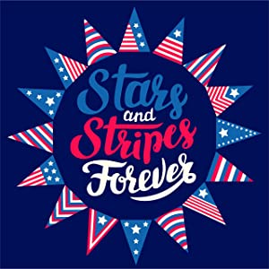 Jolly Jon Patriotic Garden Flag - Stars and Stripes Forever USA - July 4th American Veterans Pride - Memorial Day Military 2 Sided Flags
