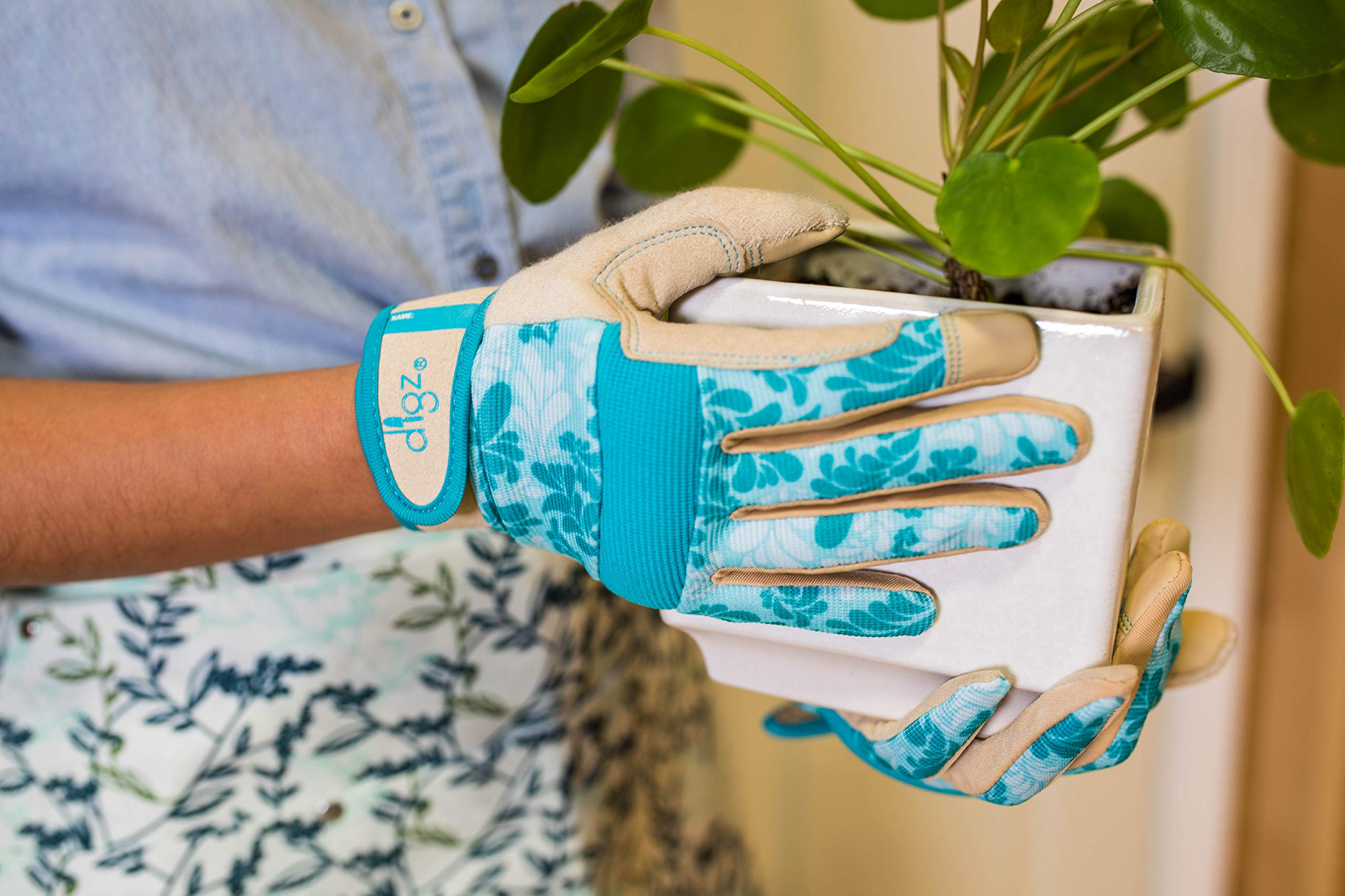 DIGZ Gardener High Performance Women's Gardening Gloves and Work Gloves with Touch Screen Compatible fingertips by DIGZ (Image #4)