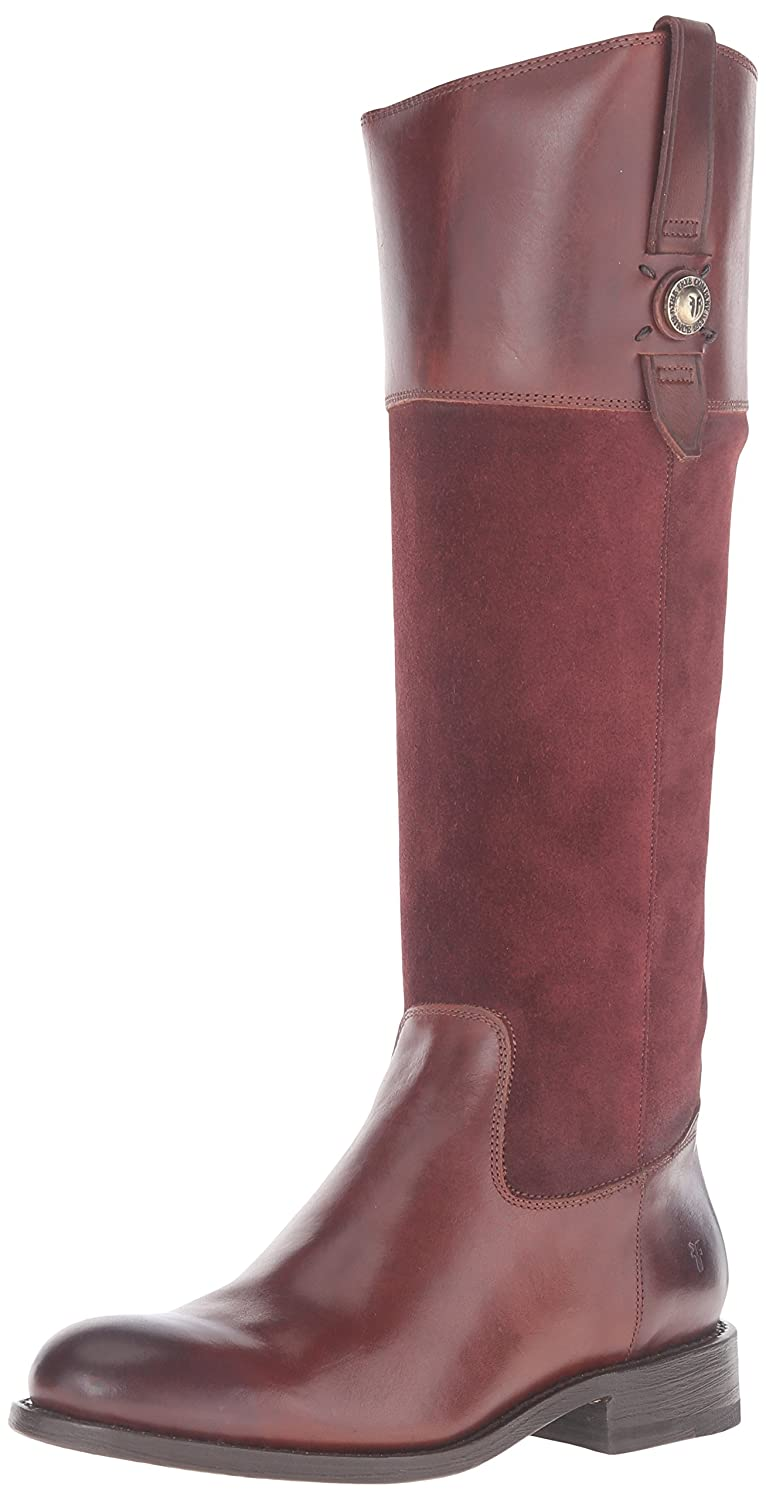 FRYE Women's Jayden Button Tall Leather and Suede Riding Boot B0192HUJWU 7 B(M) US Redwood