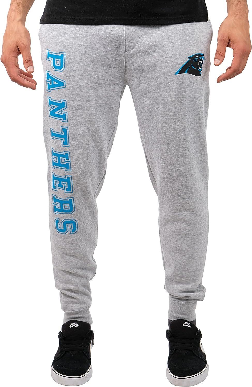 Ultra Game NFL Carolina Panthers Mens Jogger Pants Active Basic Fleece Sweatpants, Heather Gray 18, Large
