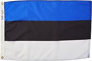product image for Annin Flagmakers Model 221340 Estonia Flag Nylon SolarGuard NYL-Glo, 2x3 ft, 100% Made in USA to Official United Nations Design Specifications
