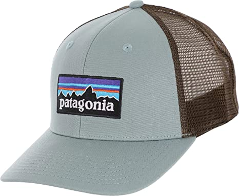Amazon.com  Patagonia P6 Trucker Hat (Cadet Blue)  Clothing f87b6e6173f2