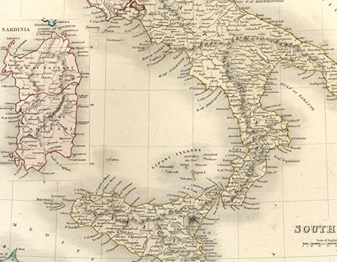 Amazon.com: South Italy Kingdom of Naples Sicily Sardinia ... on lampedusa island italy map, viceroyalty of peru on map, county of tripoli on map, kingdom of sicily flag, battle of cannae on map, principality of antioch on map, ryukyu kingdom on map,