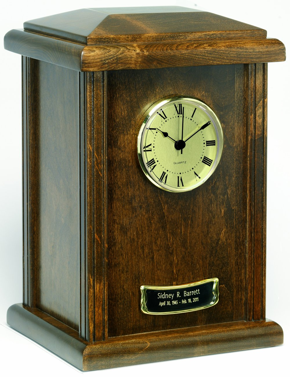 Star Legacy Natural Wood Chestnut Clock Urn, Chestnut, Large/Adult