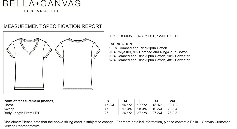 2b808a76c365e Bella Canvas - T-Shirt Femme COL V Profond  Amazon.fr  Vêtements et  accessoires