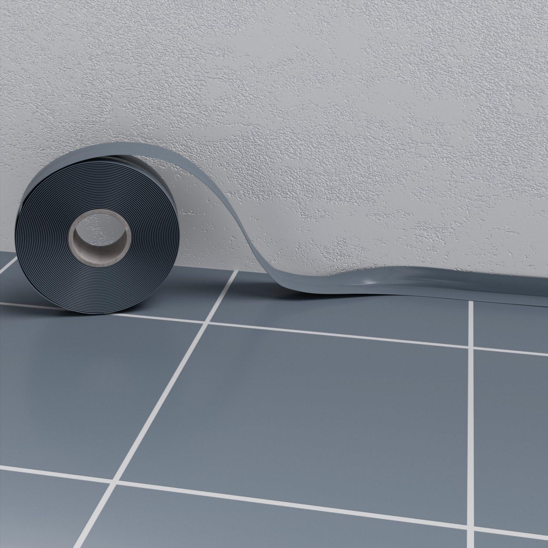 Weichsockelleiste Eiche Hell 5m Sockelleisten PVC selbstklebend Scheuerleiste Knickwinkel 52mm