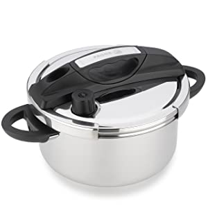Fagor HELIX Multi-Setting Pressure Cooker with Universal-Locking, 6 quart, Polished Stainless Steel – 935010056