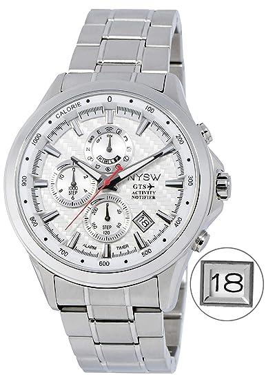 Amazon.com: NYSW - Reloj de pulsera híbrido más grande, día ...