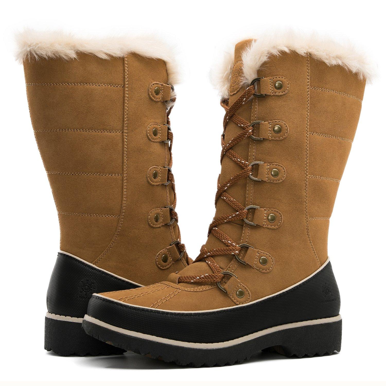Global Win GLOBALWIN Women's Fur Trek Winter Boots B074XBLPWR 6 D(M) US Women's|1729camel