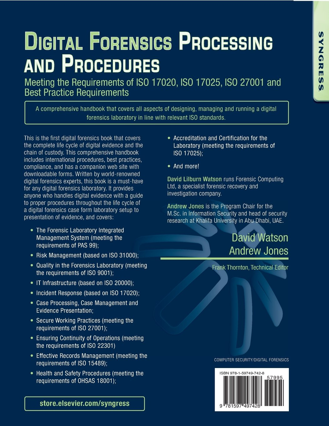 Buy Digital Forensics Processing and Procedures: Meeting the