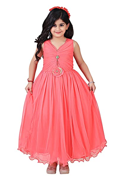 4ca93f9a3533 Qeboo Beautiful Designer Pink Color Party Wear Knee Length Dress for ...