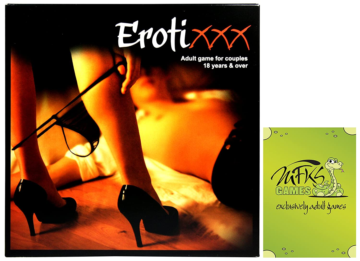 ErotiXXX, Adult Board Game for Couples and Lovers, Bundle