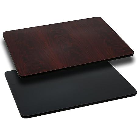 Tablero para mesa rectangular con laminado reversible negro o ...