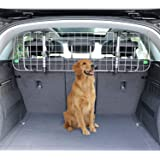 Amazon Basics Adjustable Dog Car Barrier - 12-Inch, Silver