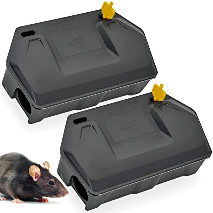 348c8bc6815b Rat Bait Station 2 Pack - Rodent Bait Station with Key Eliminates Rats  Fast. Keeps Children and Pets Safe (2 Pack) (Bait not Included)