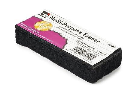 Charles Leonard Multi-Purpose Felt Eraser, 5 x 2 x 1 Inch, Charcoal, 12-Pack (74500)
