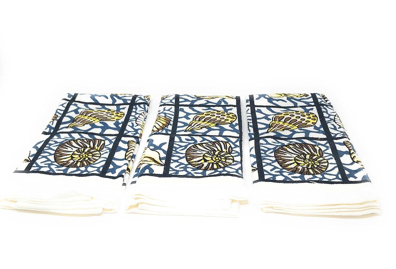 Nidico Home Concepts 15x 25 Kitchen Towels Bundle of 3 sea shells