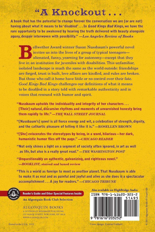 Good Kings Bad Kings: A Novel: Susan Nussbaum: 9781616203252: Amazon:  Books