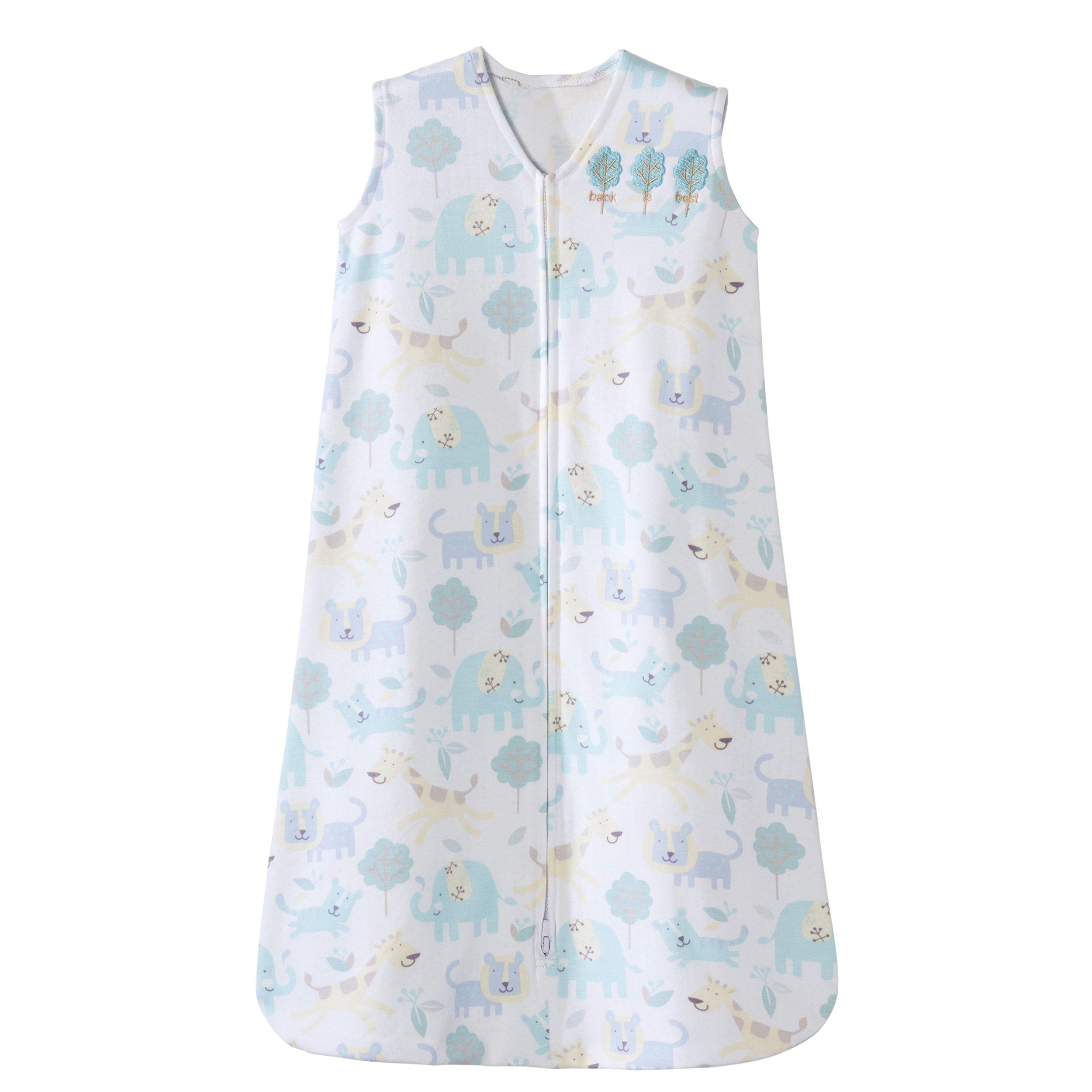 Halo Sleepsack 100% Cotton Wearable Blanket, Blue Animal, Medium