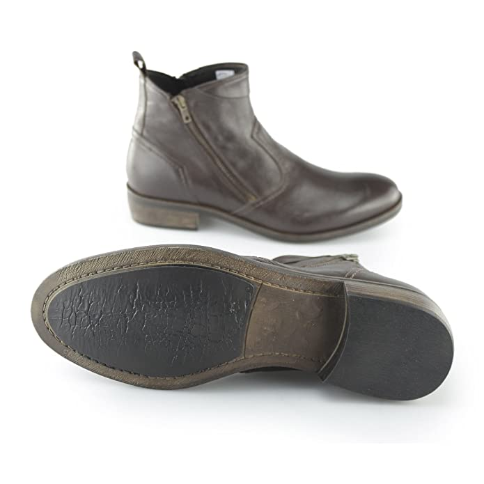 8a62992622a0 Machete Weston Mens Smooth Leather Zip Up Vintage Look Heeled Ankle Boots  Brown 46: Amazon.co.uk: Shoes & Bags