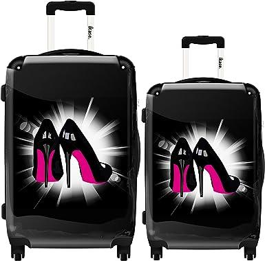 Ikase Hardside Spinner Luggage Pink Soles
