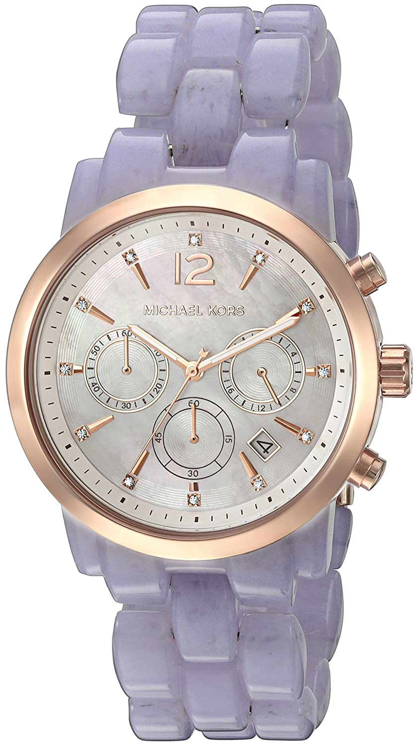 b5dcb39c0478 Amazon.com  Michael Kors Women s Audrina Acetate and Rose Gold-Tone Watch  MK6312  Michael Kors  Watches