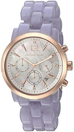 c3cb44e3e311 Image Unavailable. Image not available for. Color  Michael Kors Women s Audrina  Acetate and Rose Gold-Tone Watch MK6312